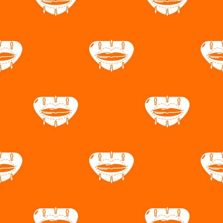 Lip augmentation pattern vector orange
