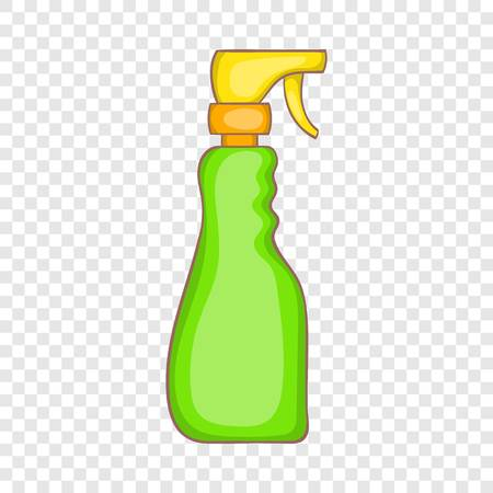 Household spray bottle icon in cartoon style on a background for any web design