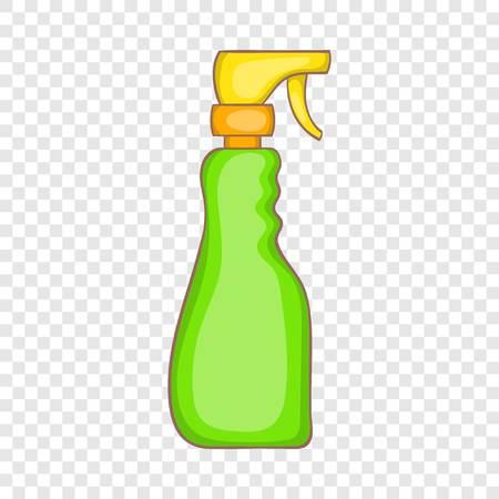 Icône de flacon pulvérisateur domestique en style cartoon sur fond pour toute conception de sites Web Vecteurs