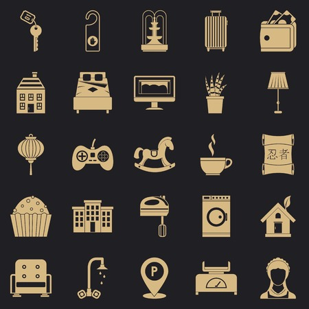 Small house for rest icons set. Simple set of 25 small house for rest vector icons for web for any design Vectores