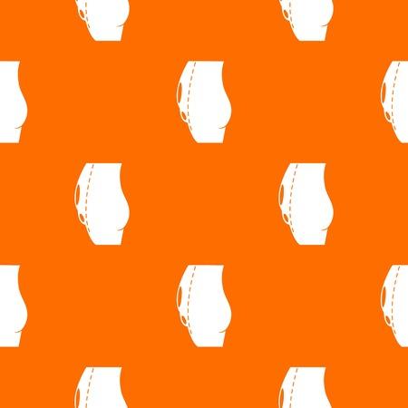 tummy tuck pattern vector orange