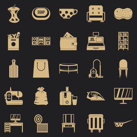 Domesticity icons set. Simple set of 25 domesticity vector icons for web for any design