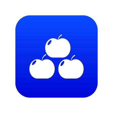 Apples icon blue vector Illustration
