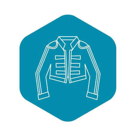 Costume of toreador icon. Outline illustration of costume of toreador vector icon for web Vettoriali