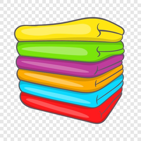 Towel stack icon in cartoon style on a background for any web design 일러스트