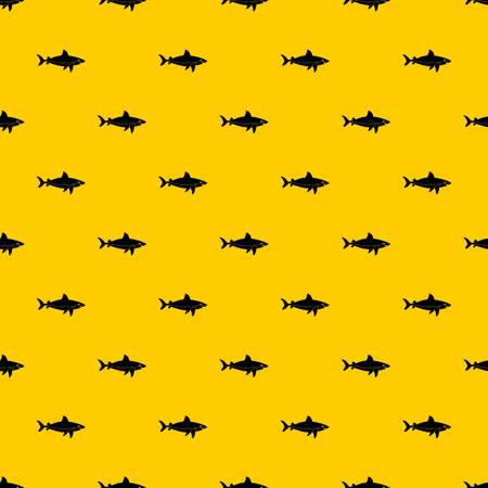 Shark fish pattern seamless vector repeat geometric yellow for any design