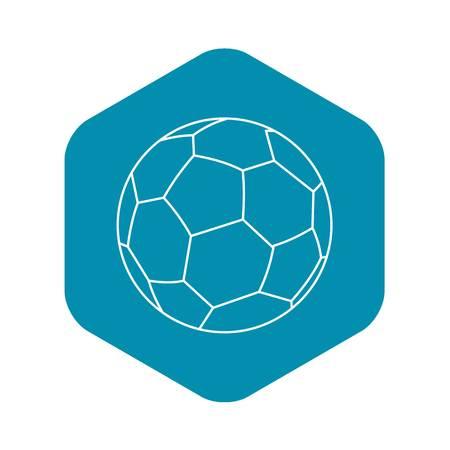 Soccer ball icon. Outline illustration of soccer ball vector icon for web Illustration