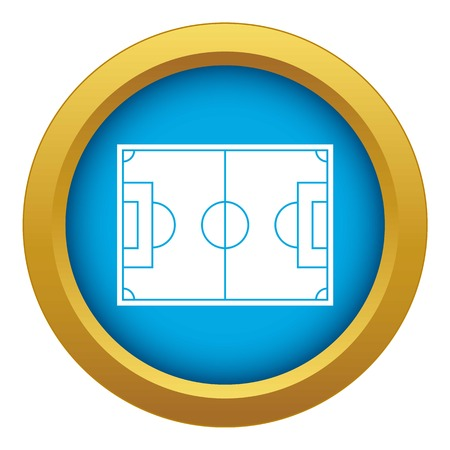 Soccer field icon blue vector isolated on white background for any design