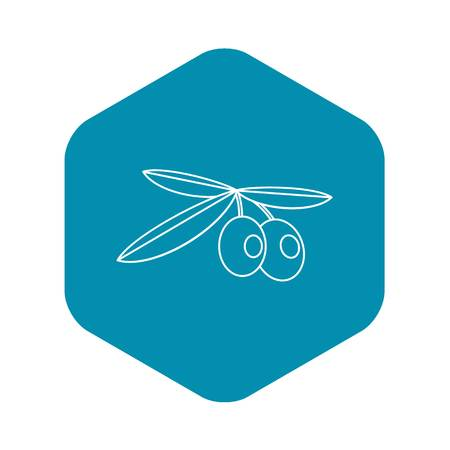 Olives icon. Outline illustration of olives vector icon for web