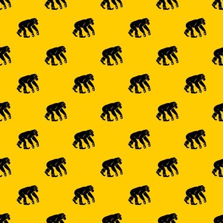 Monkey standing pattern vector