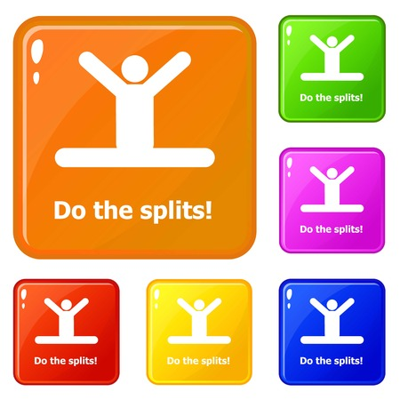 Do the splits icons set vector color