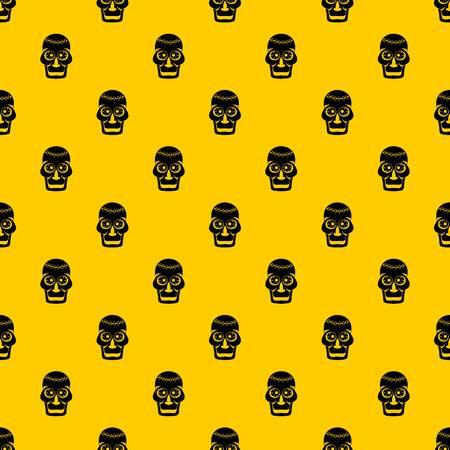 Motif crâne vectorielle continue répéter jaune géométrique pour toute conception Vecteurs