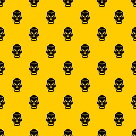 Skull pattern seamless vector repeat geometric yellow for any design 免版税图像 - 119175036