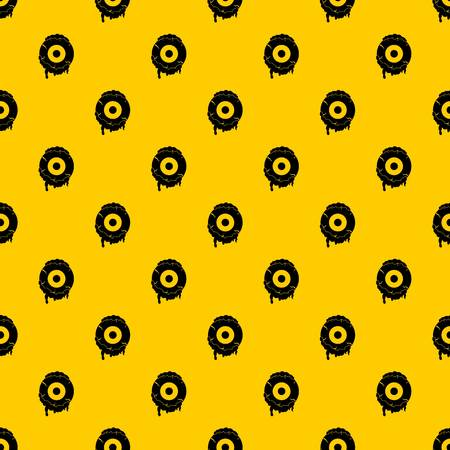 Scary eyeball pattern vector Illustration