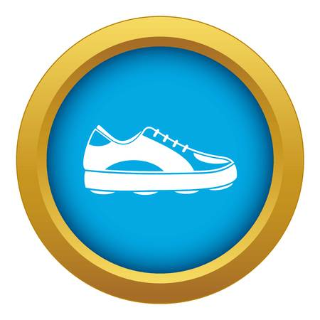 Golf shoe icon blue vector isolated