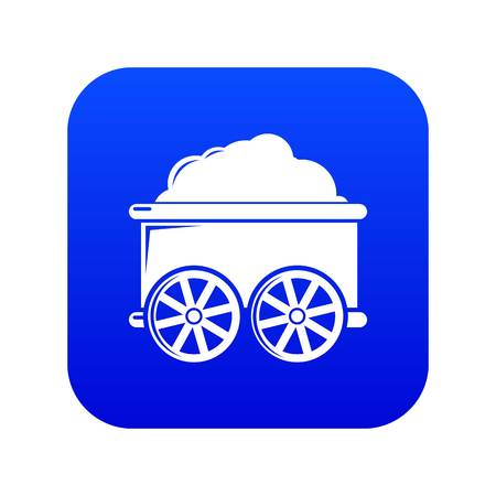 Train wagon icon blue vector