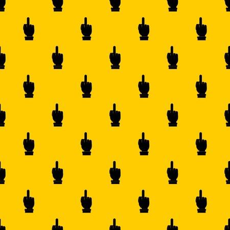 Middle finger hand sign pattern vector