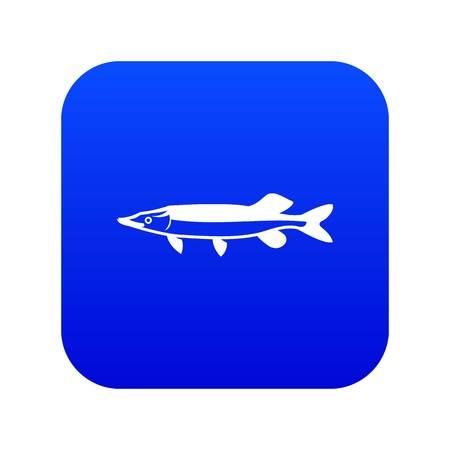 Saury icon digital blue Illustration