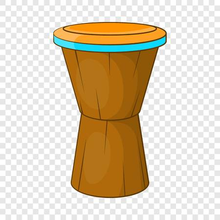African drum icon, cartoon style Vettoriali