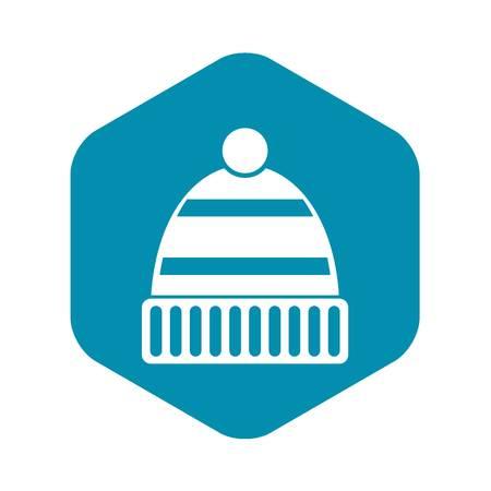 Hat icon, simple style Иллюстрация