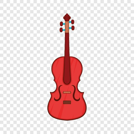 Cello icon, cartoon style 向量圖像