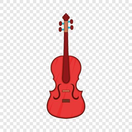Cello icon, cartoon style Illustration