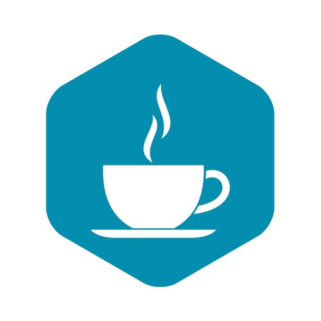 Cup of hot drink icon, simple style Иллюстрация