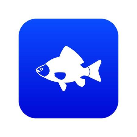 Fish icon digital blue