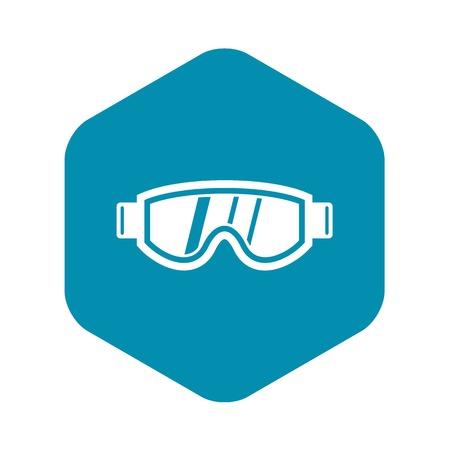 Skiing mask icon, simple style Ilustração Vetorial
