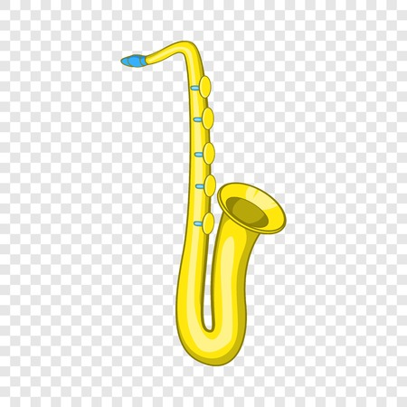 Saxophone icon, cartoon style Illustration
