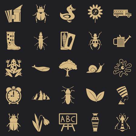 Bedbug icons set, simple style