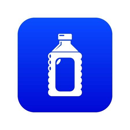 Plastic soap bottle icon blue vector