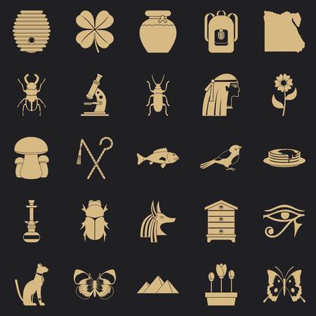 Bug icons set. Simple set of 25 bug vector icons for web for any design