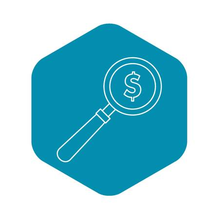 Magnifier icon, outline style