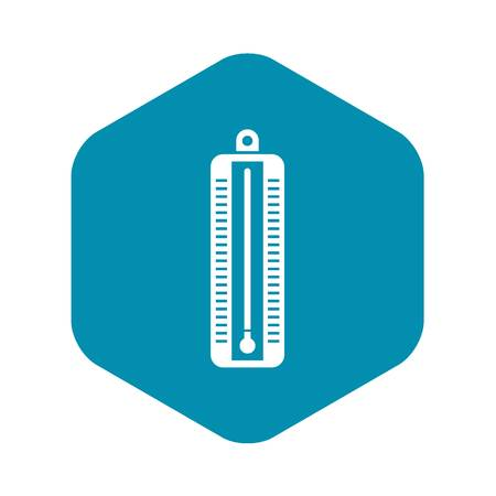 Thermometer indicates low temperature icon Ilustração