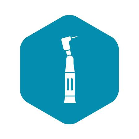 Dental drill icon, simple style