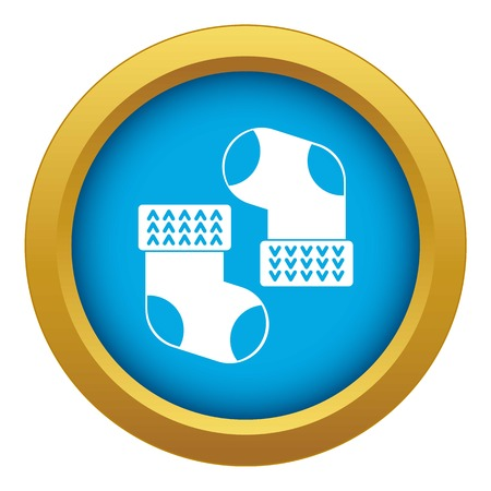 Baby socks icon blue vector isolated Vettoriali