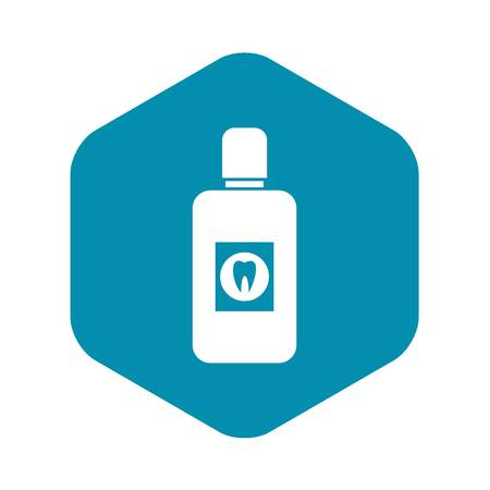 Bottle of mouthwash icon, simple style