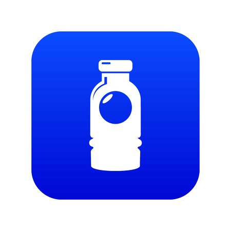 Cosmetic bottle icon blue vector