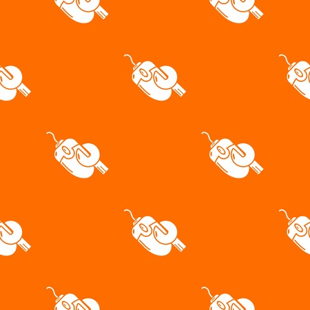 Computer mouse repair pattern vector orange