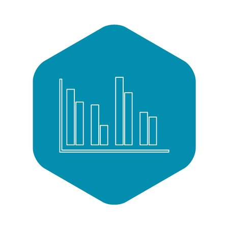 Financial analysis chart icon, outline style