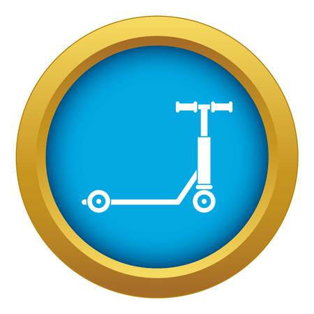 Scooter icon blue vector isolated Illustration