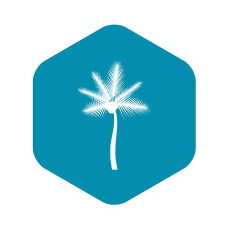 Palm butia capitata icon, simple style Çizim
