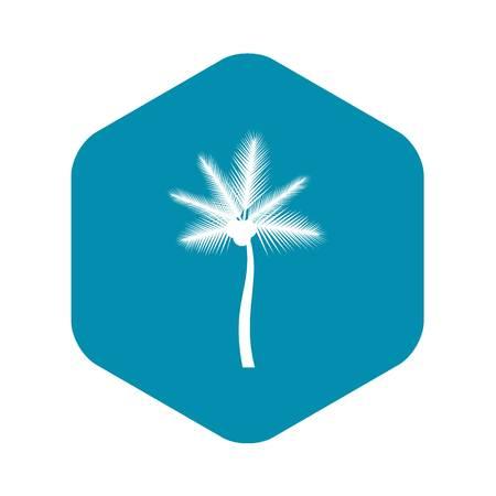 Palm butia capitata icon, simple style Illustration