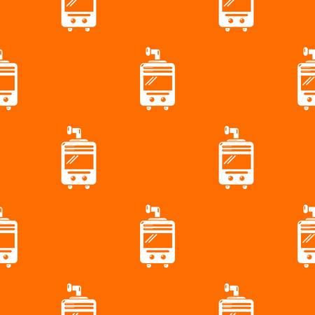 Oven-stove pattern vector orange Ilustração