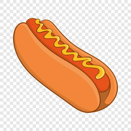 Hot dog icon, cartoon style Standard-Bild - 119255581