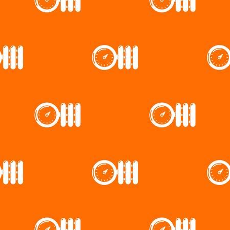 Manometer pattern vector orange Ilustração