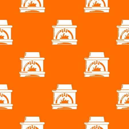 Blast furnace pattern vector orange