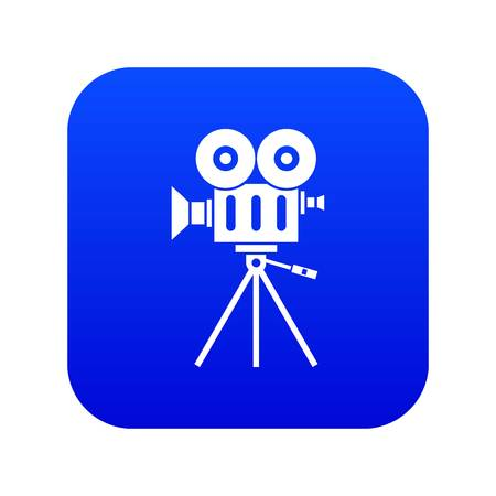 Camcorder icon digital blue