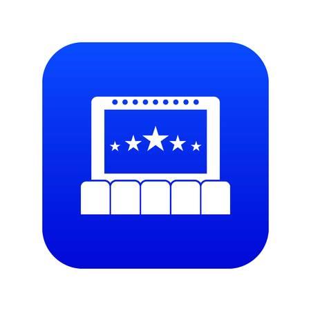 Cinema icon digital blue